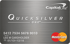Capital One QuicksilverOne MasterCard